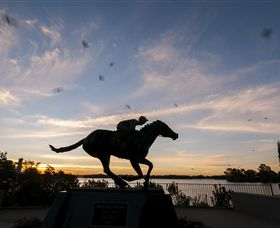 Black Caviar Statue - Accommodation Search