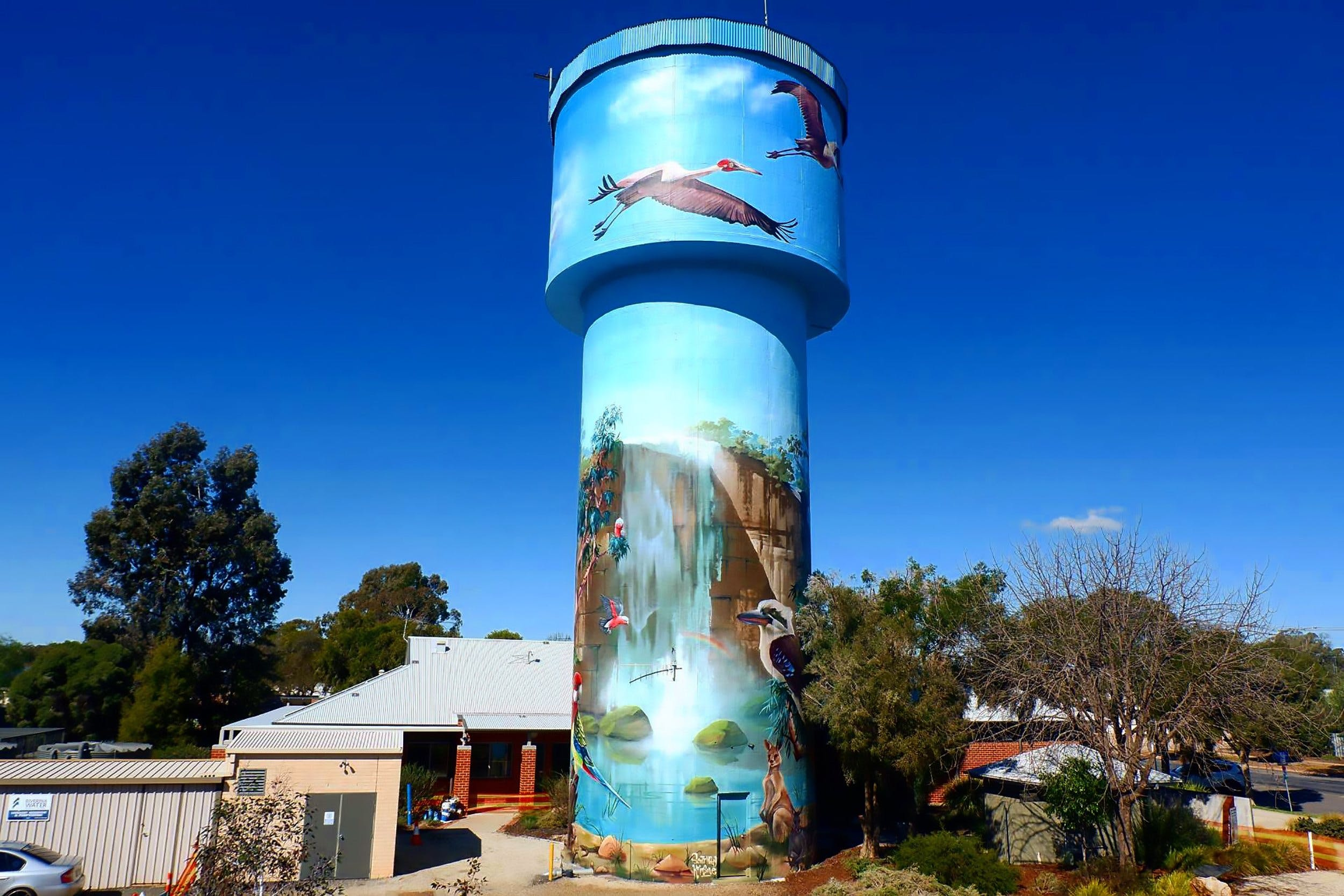 Lockhart Water Tower Mural - Accommodation Search