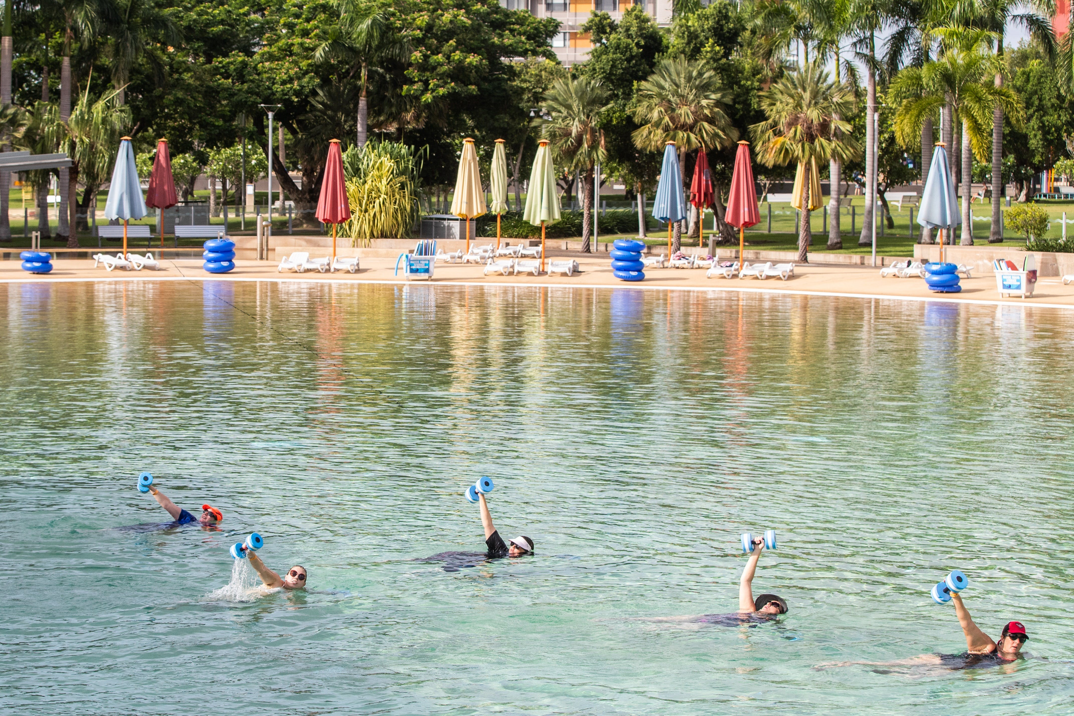Aqua fitness in the Wave Lagoon - Accommodation Search