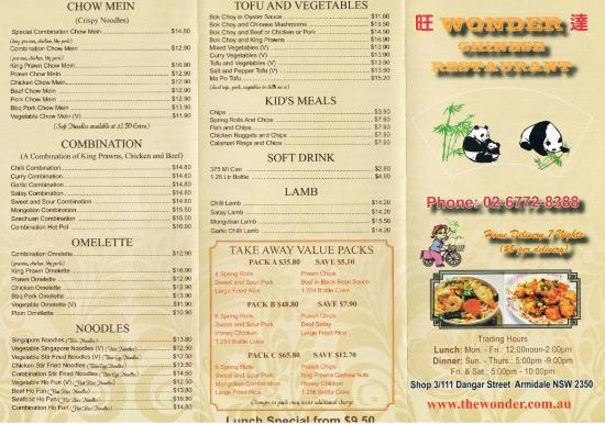 Wonder Chinese Restaurant - Accommodation Search